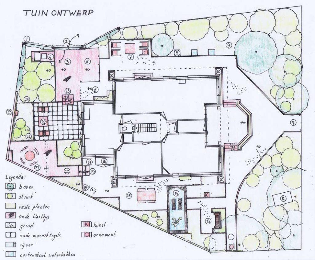 romantische-tuin-tekening